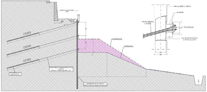 Interventi urgenti sul versante di sottoscarpa della s.S. 163 per il ripristino della viabilita'