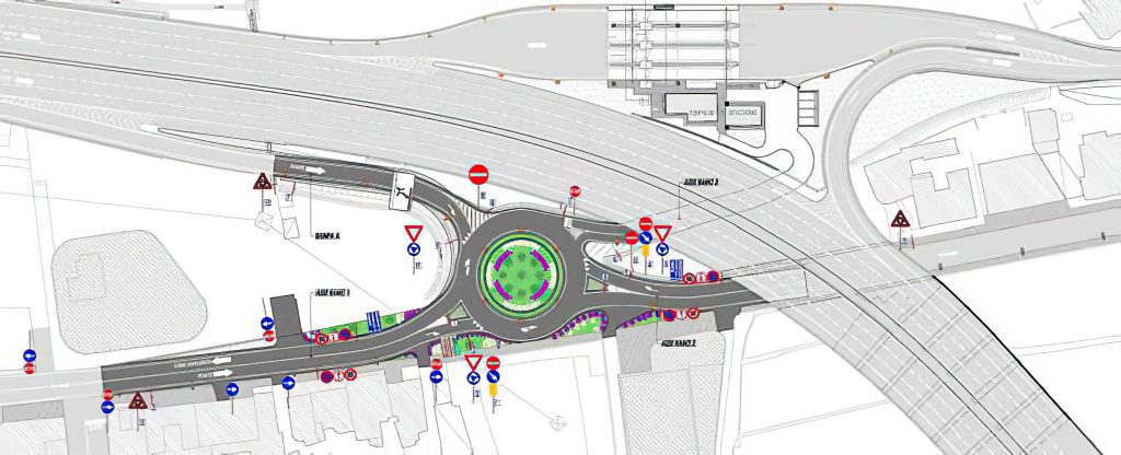 Intervento di razionalizzazione del traffico mediante l'inserimento di una rotatoria in corrispondenza dell'uscita autostradale dello svincolo di Pompei ovest